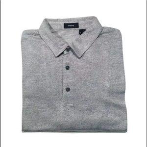 Theory polo shirt XL Short sleeve Silver EUC